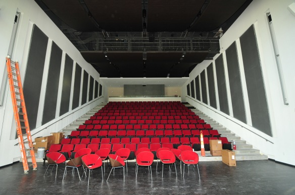 Whipple Auditorium features 200 seats, a sound system, projection and a spectacular 2-story view of Greene Square.