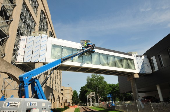The skywalk is getting some finishing touches.