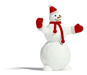 snowman-red-hat-scarf-gloves