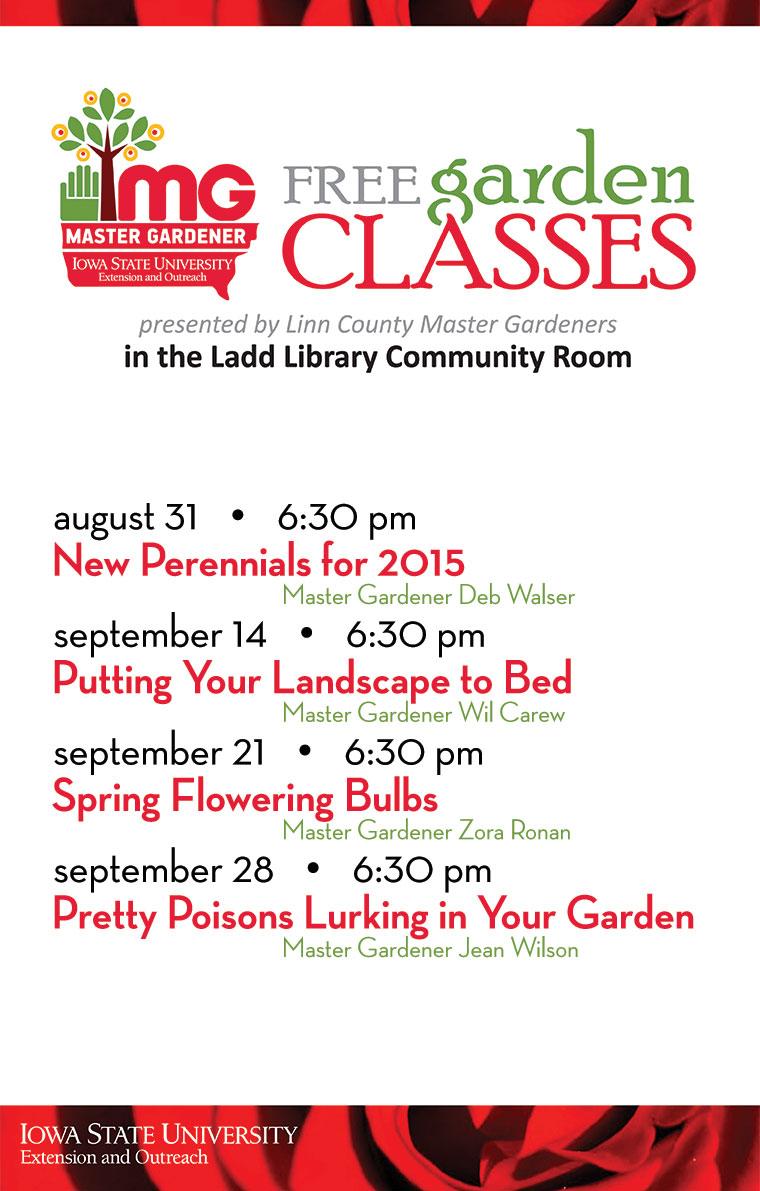 Free Garden Programs At Ladd Library Cedar Rapids Public